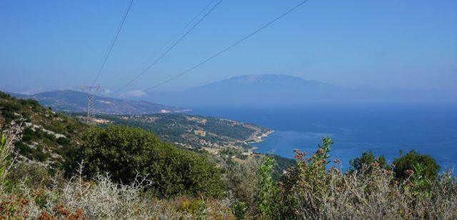 Udsigt til Kefalonia, Zakynthos