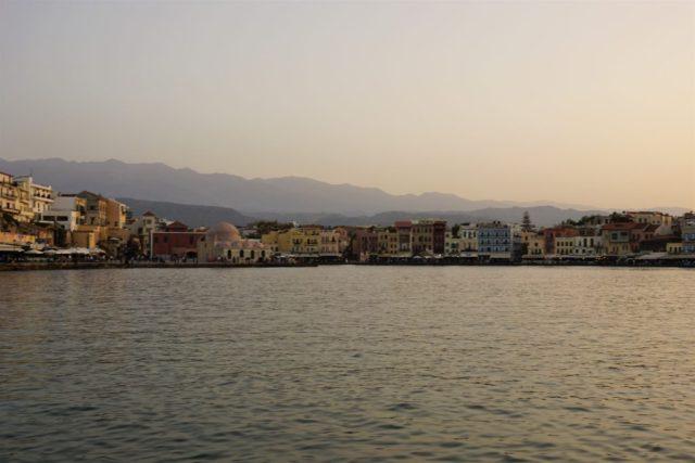 Dejlig stemning ved Chania Havn Kreta