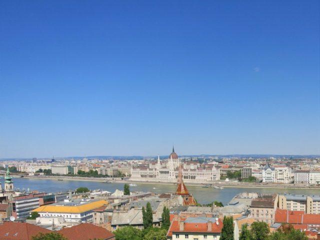 Udsigt Budapest Fiskermands Bastionen
