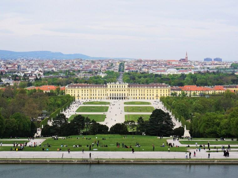 Schloss Schönbrunn Vienna view