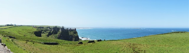 Dunluce Castle slotsruin Nordirland