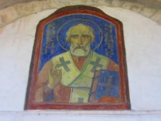 Св. Николай Чудотворец - над входа
