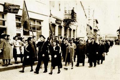 10.03.1958 г.; тържествено шествие по случай 100-годишнината Дряновското класно училище