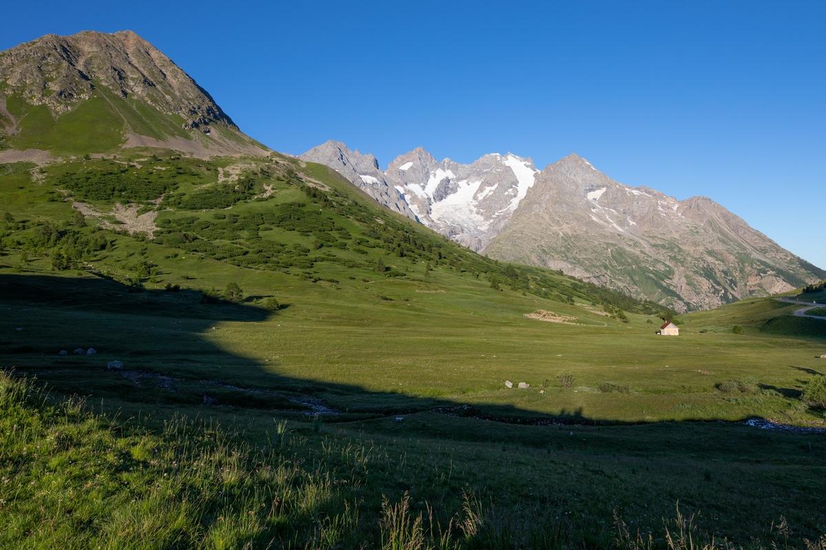 Massif de la Meije vu du Lautaret