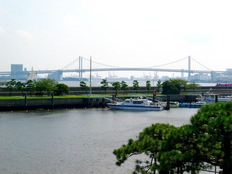 Rainbow Bridge view from the Tidal dock in the Hama Rikyu garden