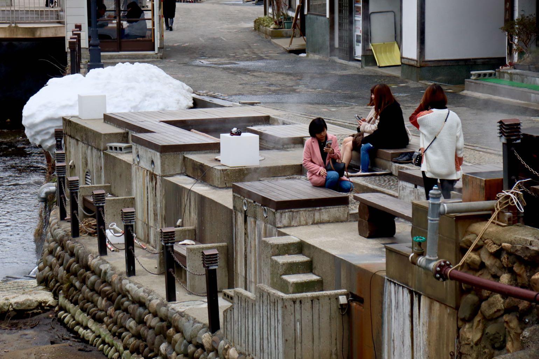 Ginzan Onsen - Public foot bath