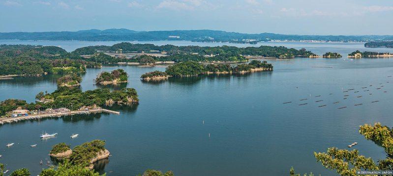 Ilots de Matsushima dans la baie