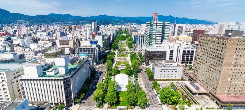 Vue des grandes avenues de Sapporo
