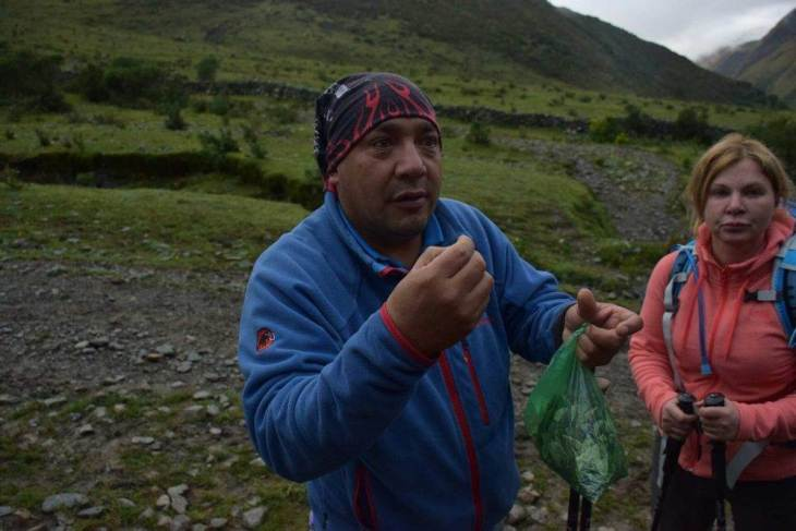 our guide on the salkantay trek