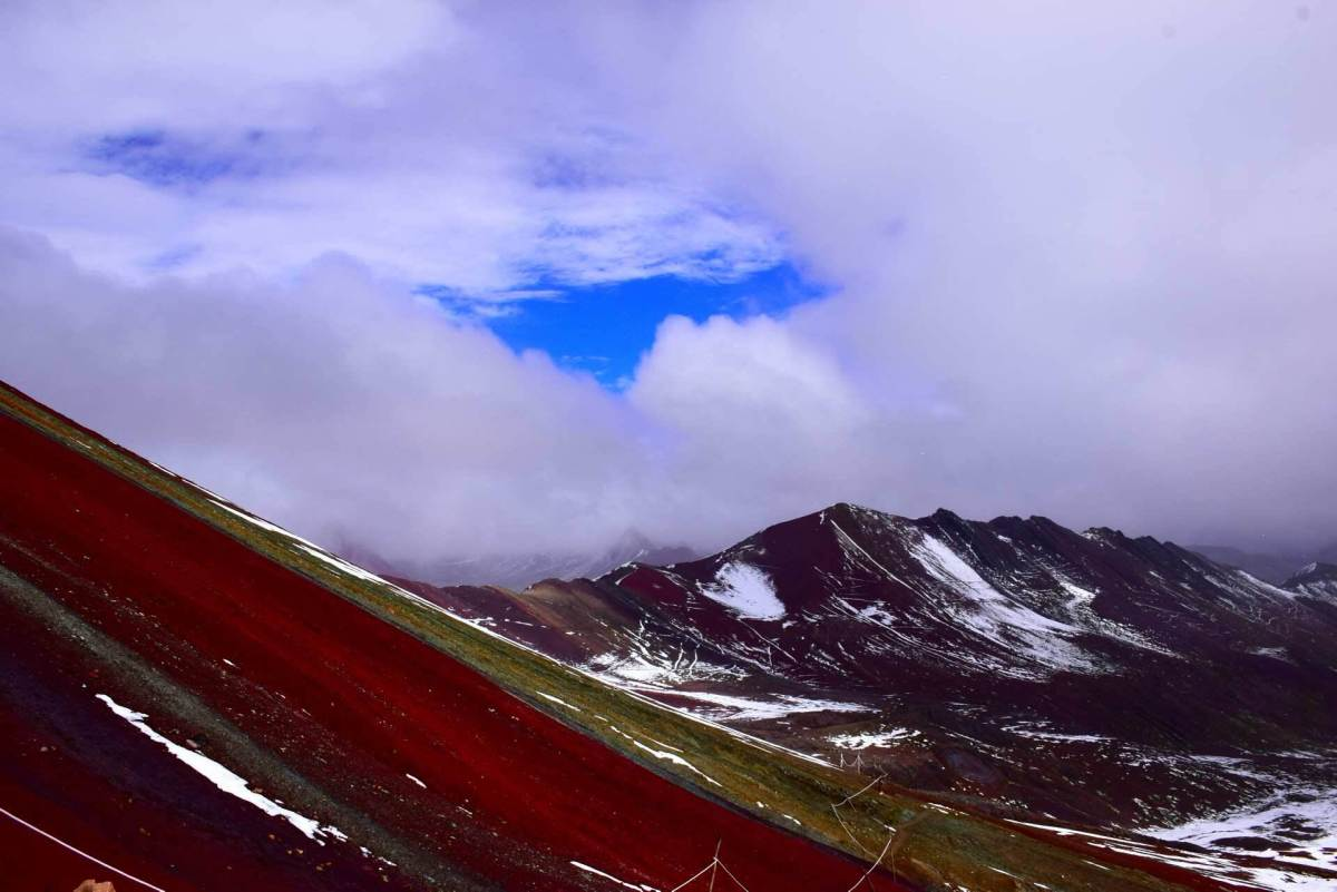 the rainbow mountain is an affordable day trip for any backpacker from cusco