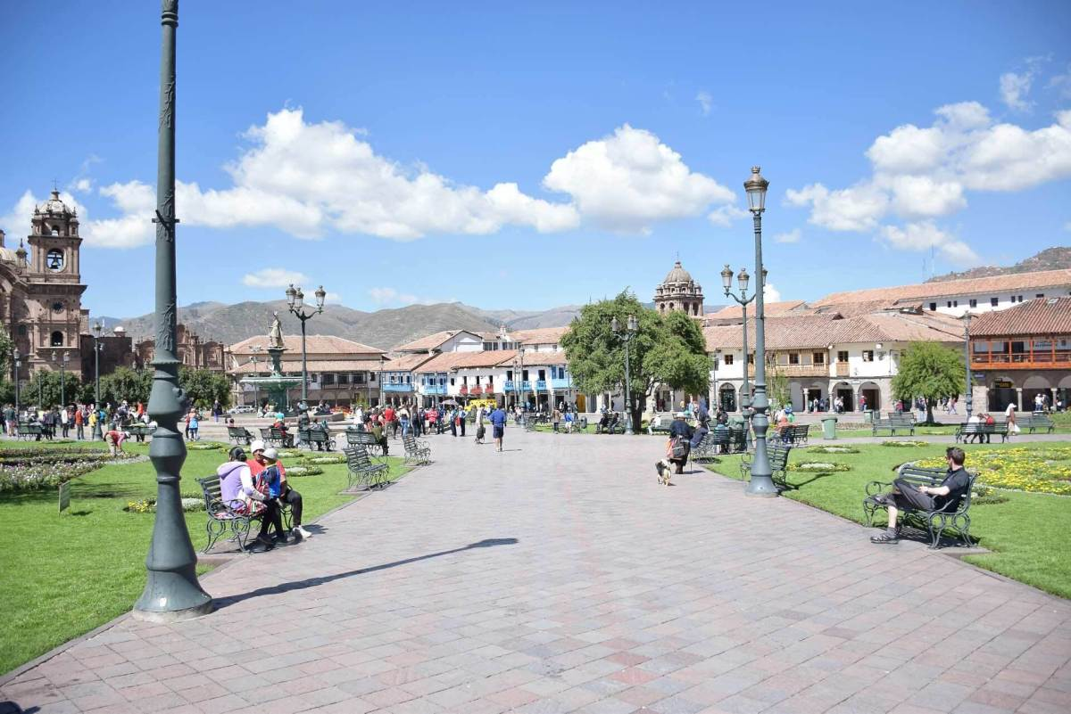 for backpackers in cusco the plaza is common place to go