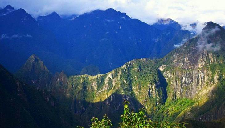 view of machu picchu for afar