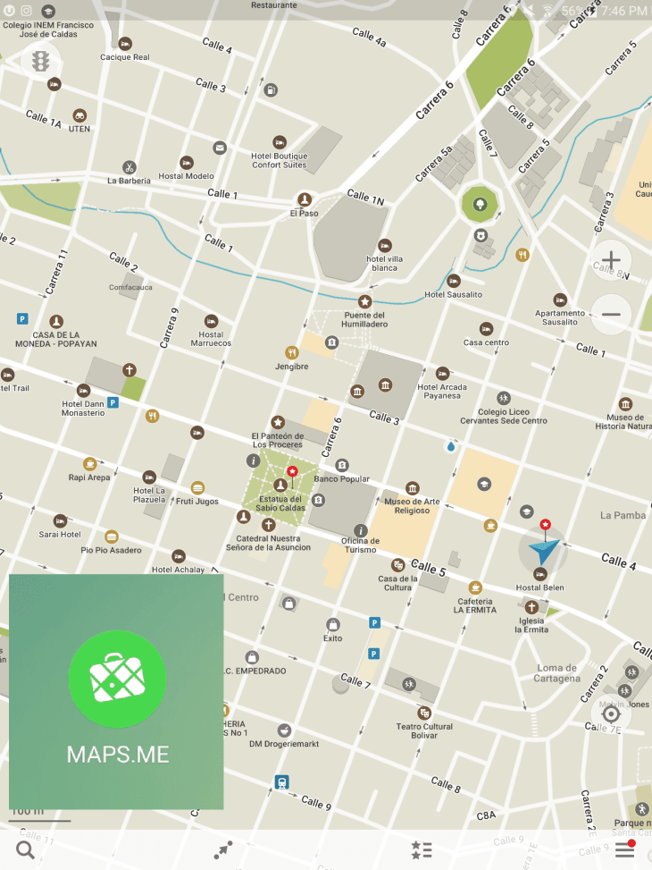 Maps.me is our top apps for travelers