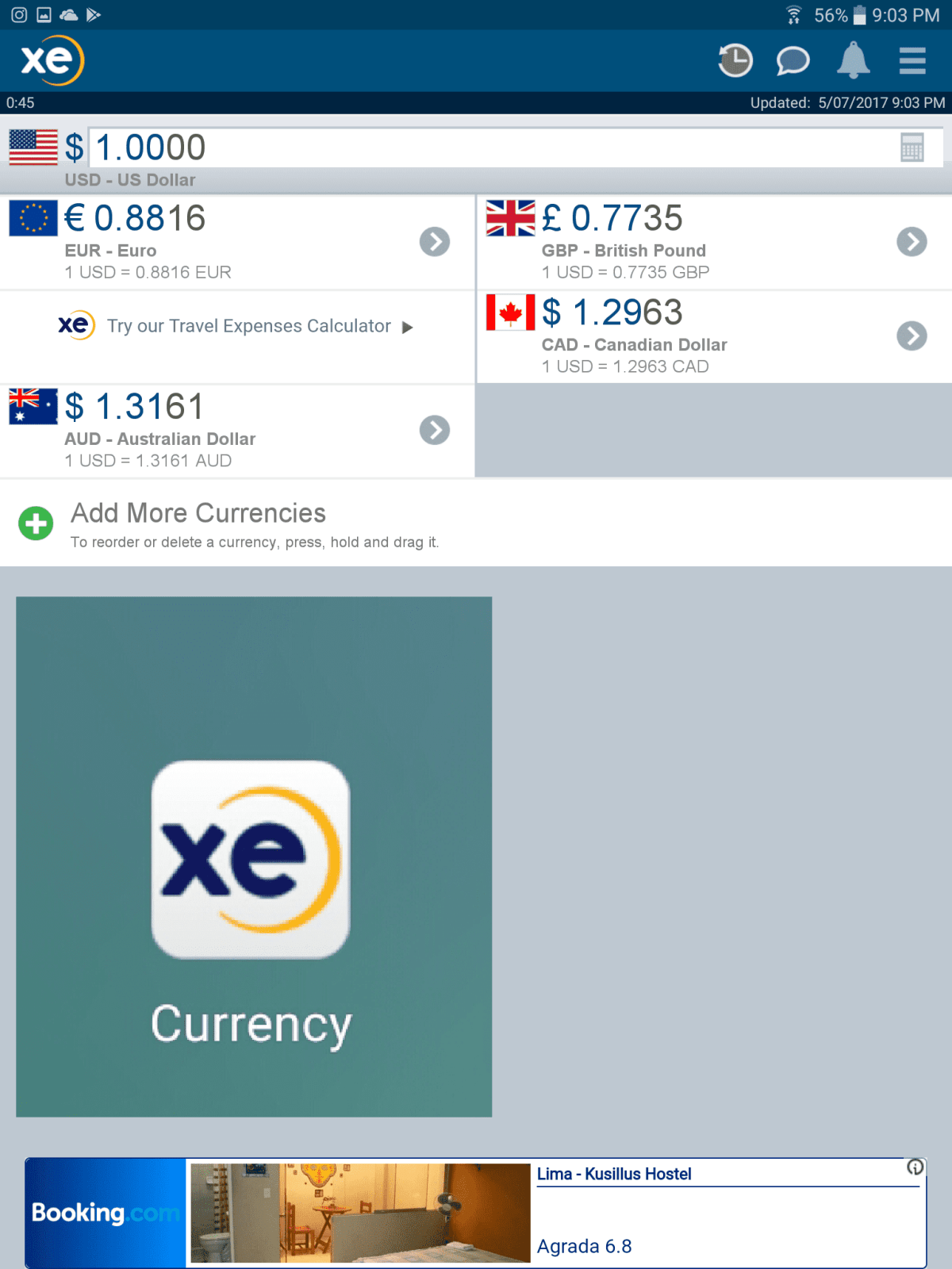 The best apps for travelers needs a currency exchange