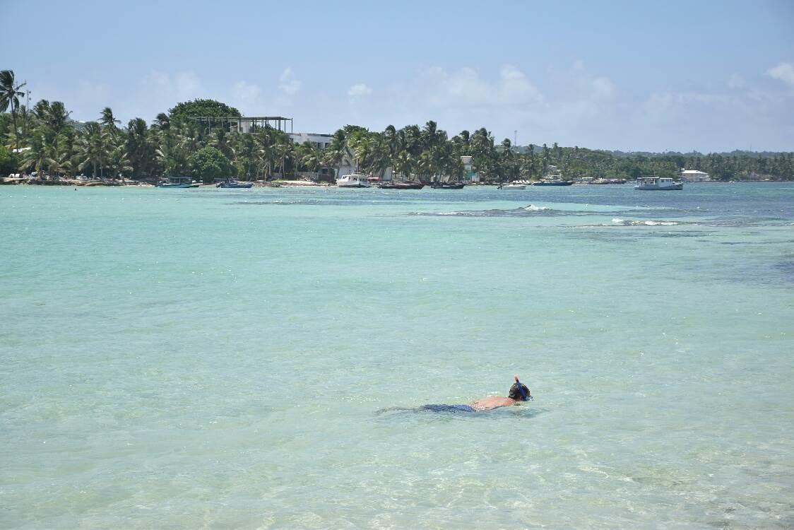 snorkeling rocky cay