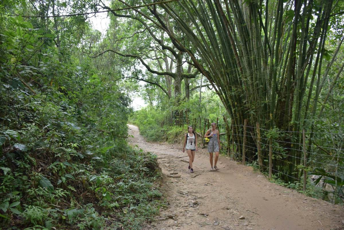 walking to pozo azul minca