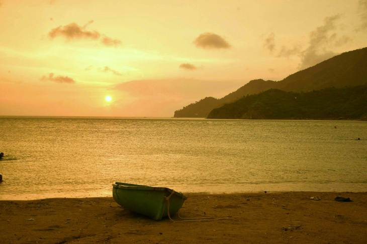 one of the best sunsets ever in Taganga Colombia