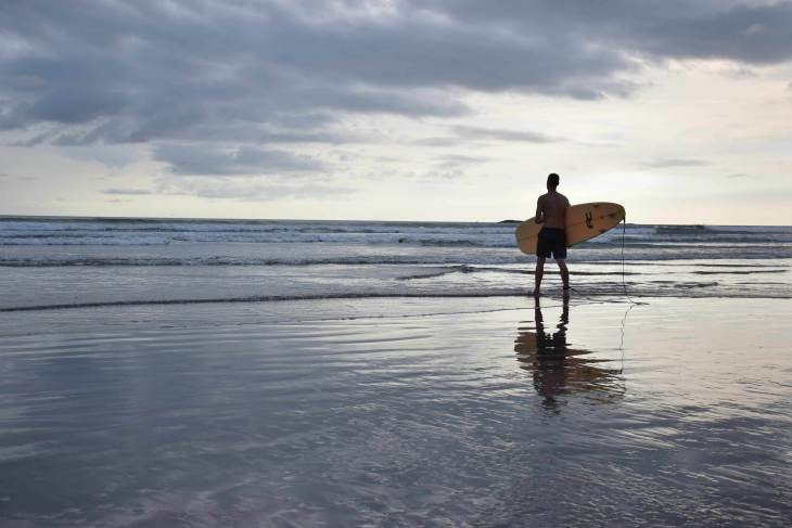 Our first day of San Juan del Sur Surfing