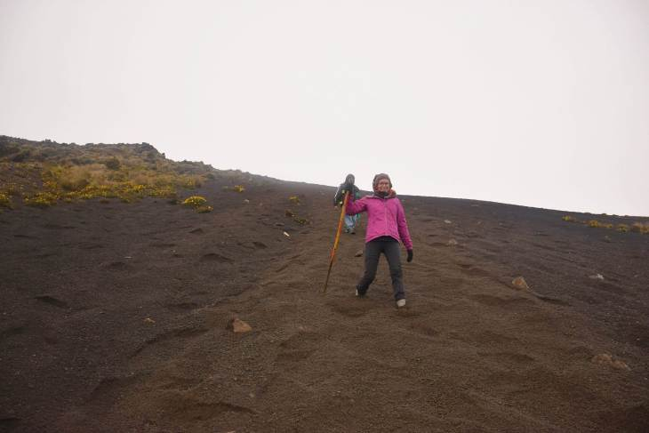 it's cold on the Acatenango Volcano Hike