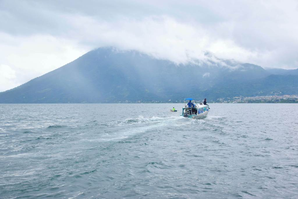 the boat is part of getting to lake atitlan
