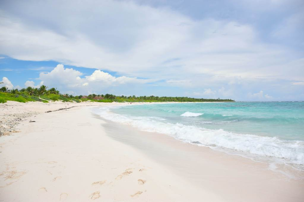 the beach is great for exploring Tulum on a budget