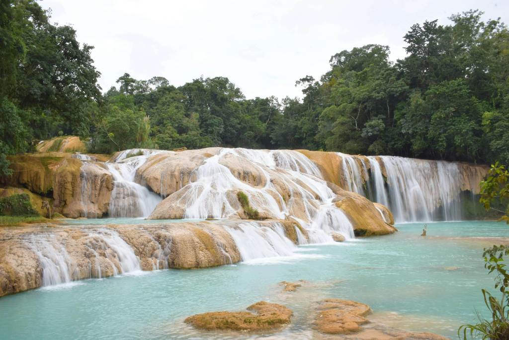 Agua Azul is one of Palenques waterfalls