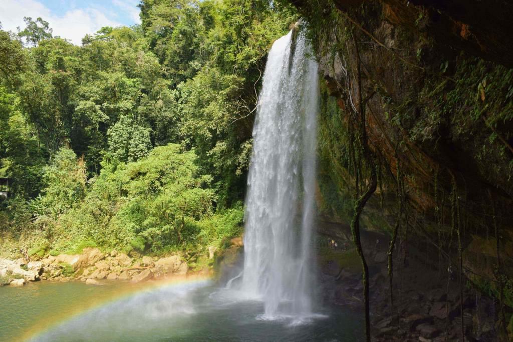 A rainbow at Misol ha