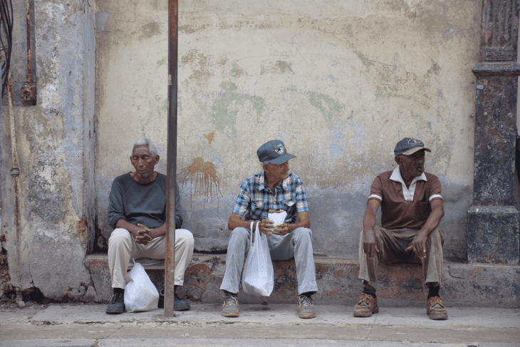 Cubans just going about their daily lives.