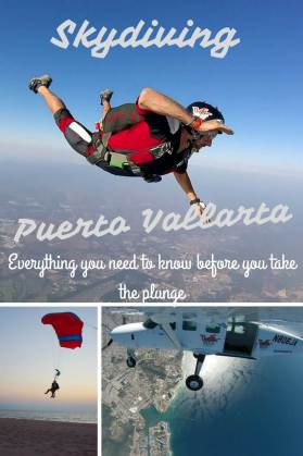 Skydiving in Puerto Vallarta pin