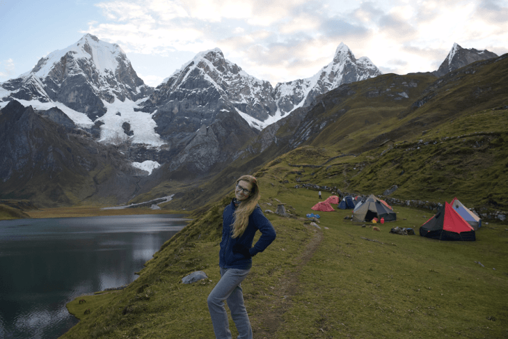 camping in the huayhuash trek