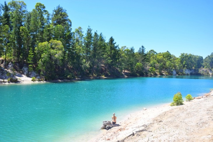 black diamond lake is actually turquoise