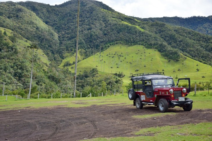 the jeep to get to the valle de cocora
