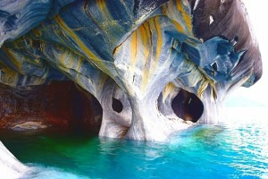 The beautiful Marble Caves