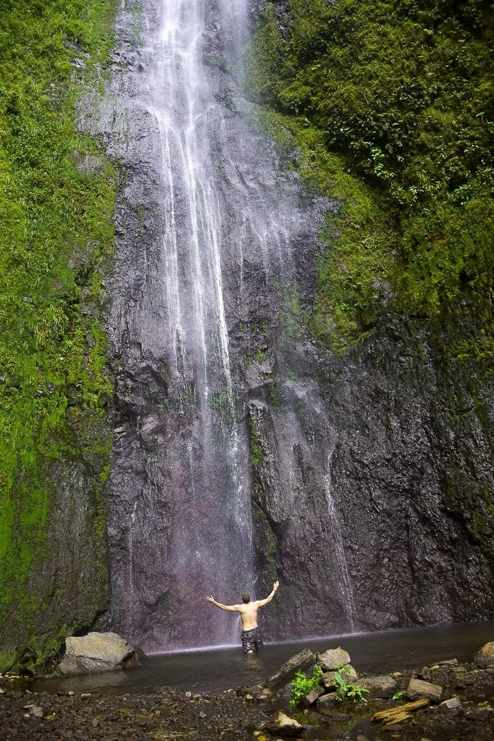 the waterfall on ometepe island