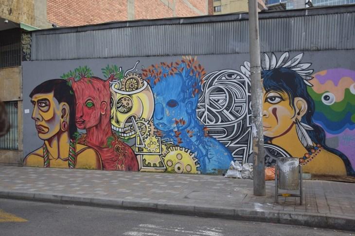 Bogota graffiti tour artworks!