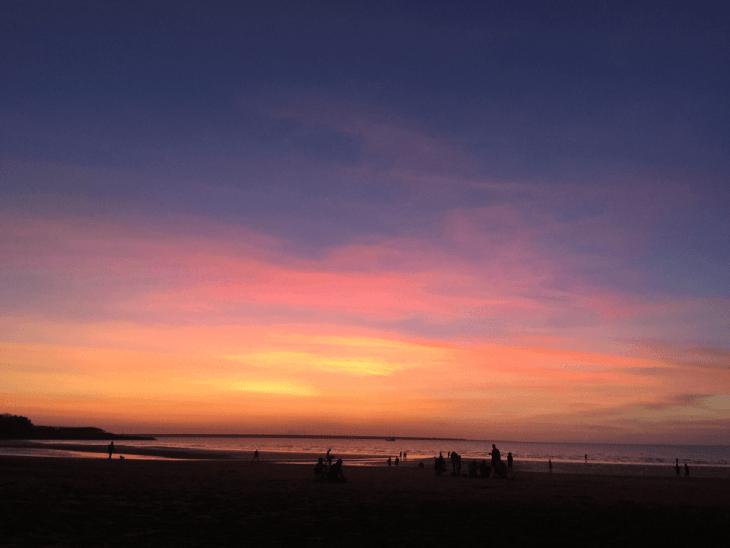 magical darwin sunset at Mindil Beach