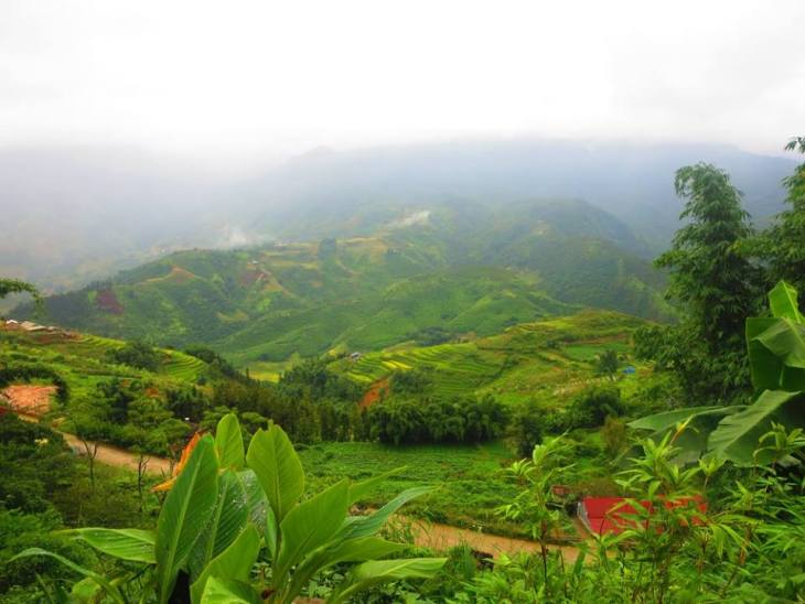 the view from hiking in sapa