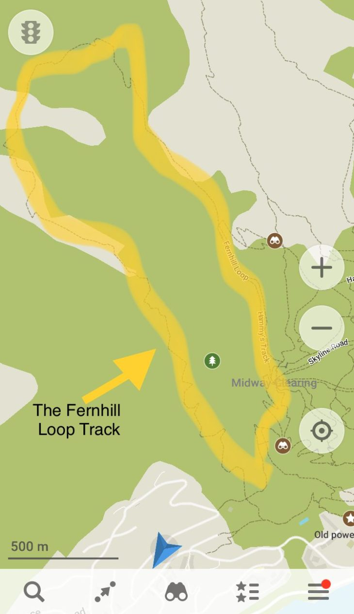 the fernhill loop track map
