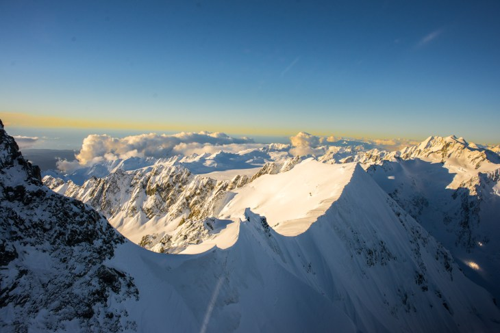 This is a photo from a Mount Cook helicopter ride.