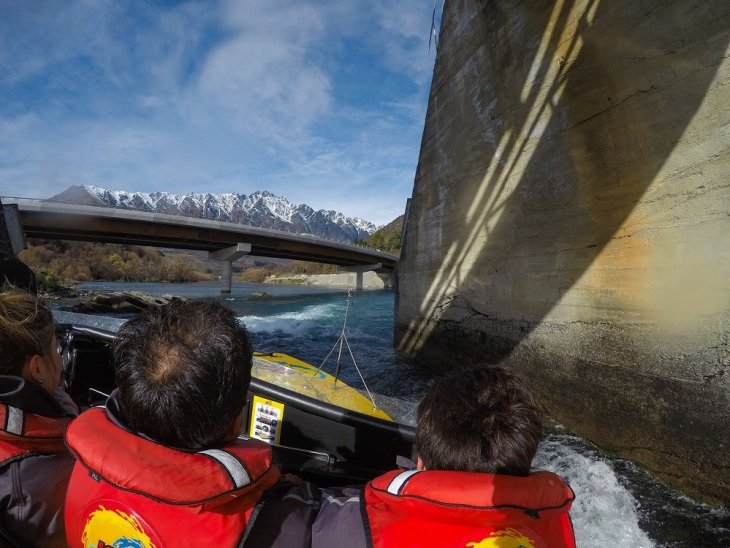 jet boating in queenstown was a thrill