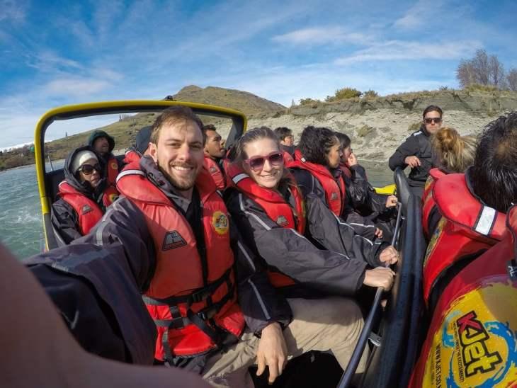 in the kjet boat