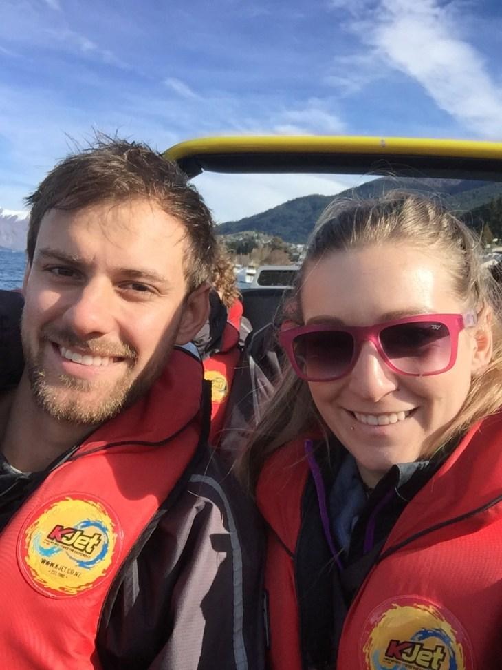 selfie on the jet boat
