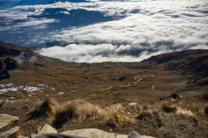 the hiking trail on roys peak