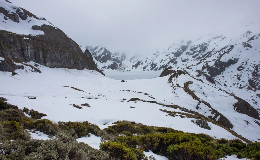 the routeburn track winter hike