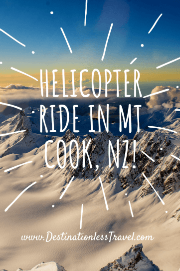 helicopter ride mount cook pinterest