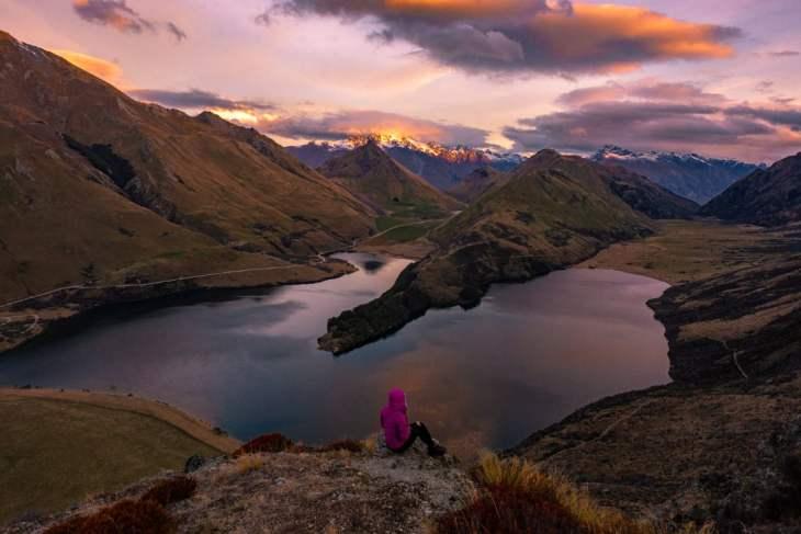 moke lake in Queenstown New Zealand