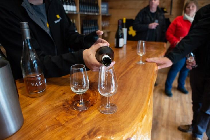 wine tasting at kinross