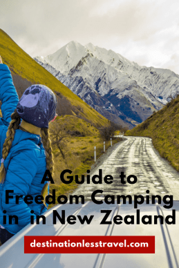 A guide to freedom camping in New Zealand pin!