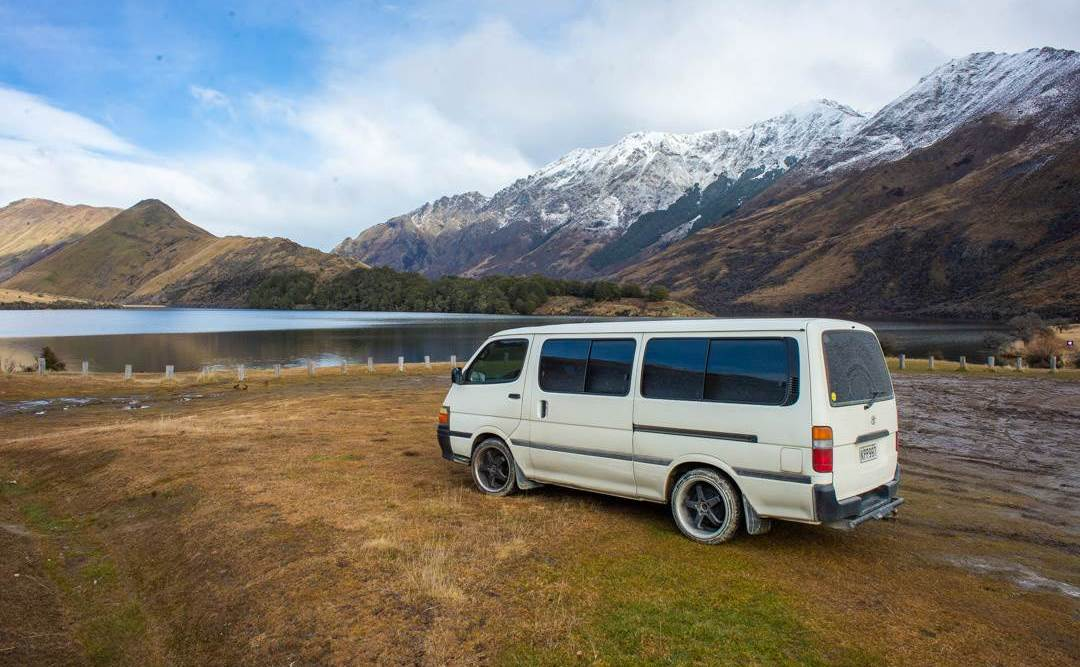 freedom camping in our new Zealand campervan