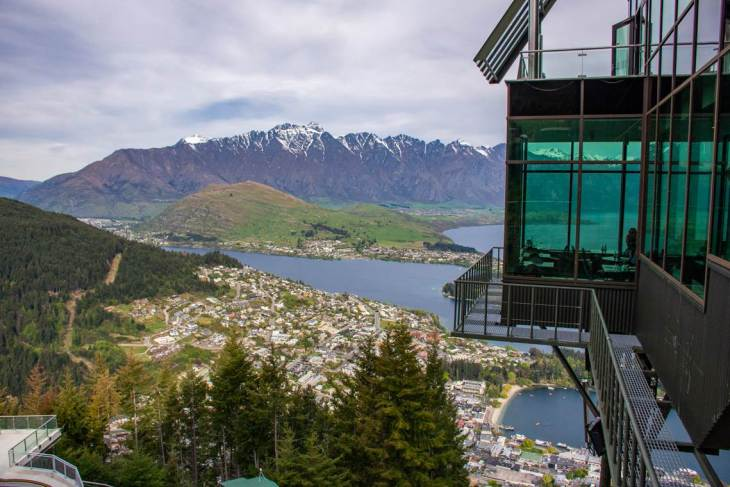 amazing view from skyline queenstown
